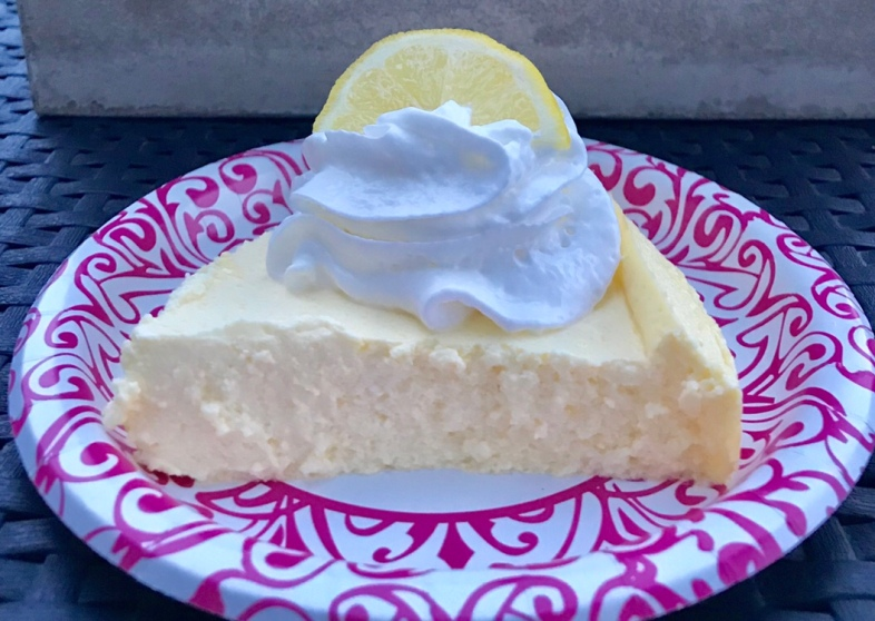 c5fb2d16a38 A low point Lemon Cheesecake made with Greek yogurt makes for guilt-free  sweet dessert.